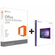 Microsoft Office 2016 Home and Business ESD 32/64 bit + Microsoft Windows 10 Professional